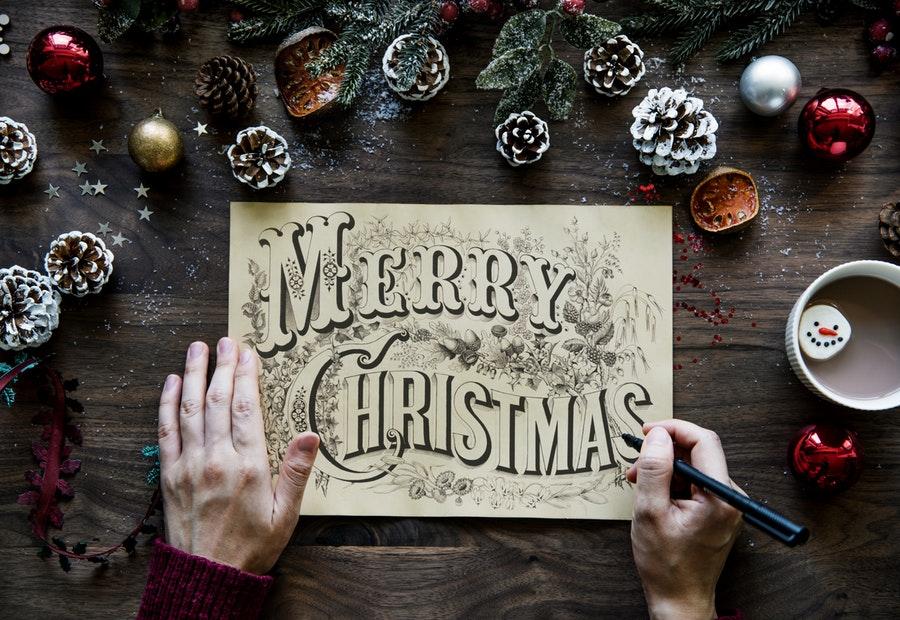 corporate christmas card sketch