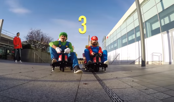 viral video ingredients mario kart flash mob