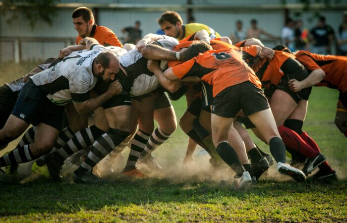 a rugby scrum, one of the things sportable's tech can provide insights on